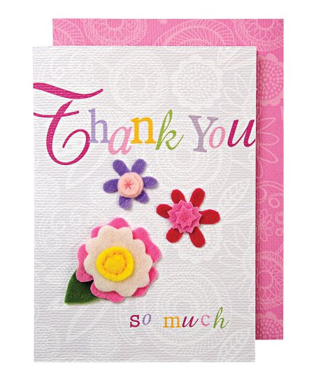Meri Meri Colorful Felt Flower Thank You Card