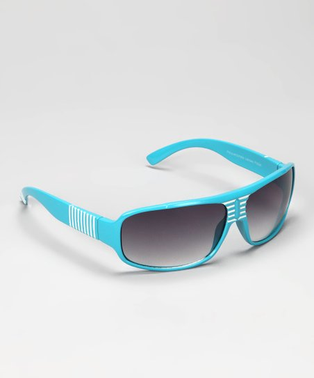 Blue Stripe Sunglasses