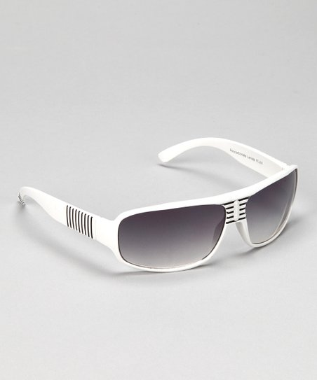 White Stripe Sunglasses