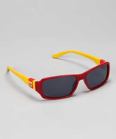 Red & Yellow Temple Sunglasses