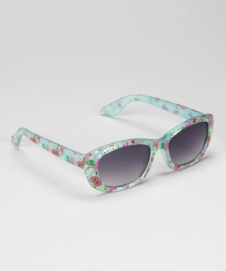 Blue Floral Sunglasses