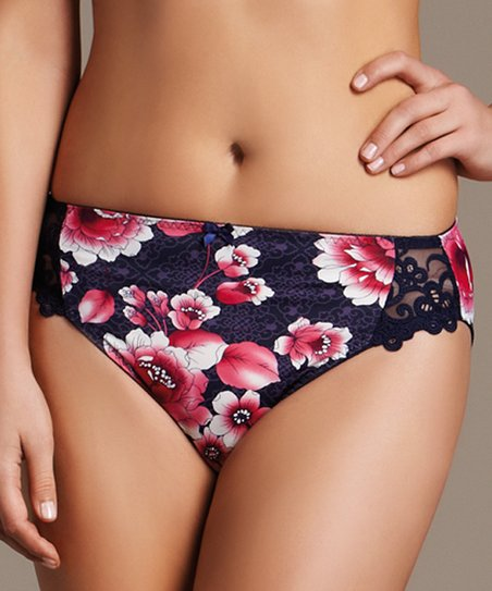Blue Coral Rose Briefs - Women