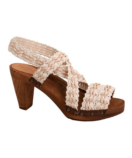 White Wood Kirsten Plateau Sandal - Women