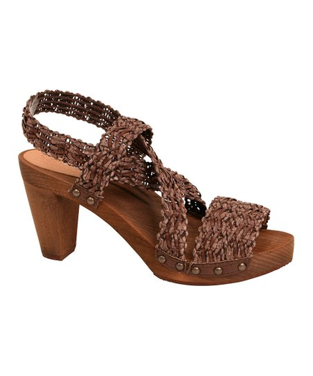 Brown Wood Kirsten Plateau Sandal - Women