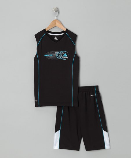 Black &amp; Teal Tank &amp; Shorts - Infant, Toddler &amp; Boys