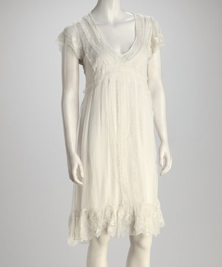 Ivory Lace Dress