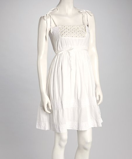 White Rhinestone Sundress