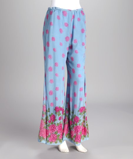 Blue Floral Lounge Pants