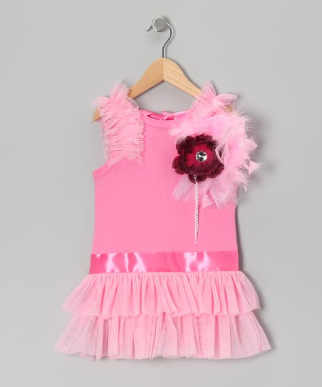 Pink Drop-Waist Dress - Toddler & Girls