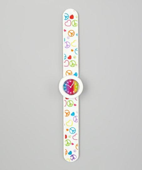 Rainbow Peace Slap Watch