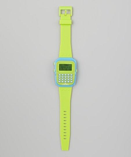 Green Calculator Watch