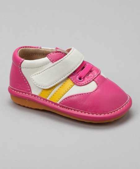 Hot Pink & Yellow Squeaker Sneaker