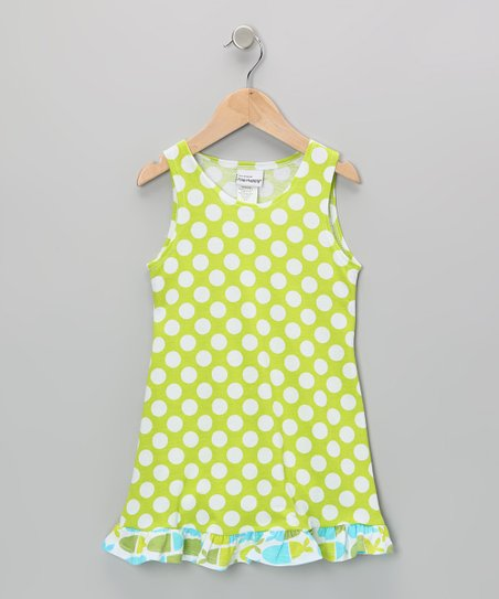 Kiwi Punch Polka Dot Dress - Infant, Toddler & Girls