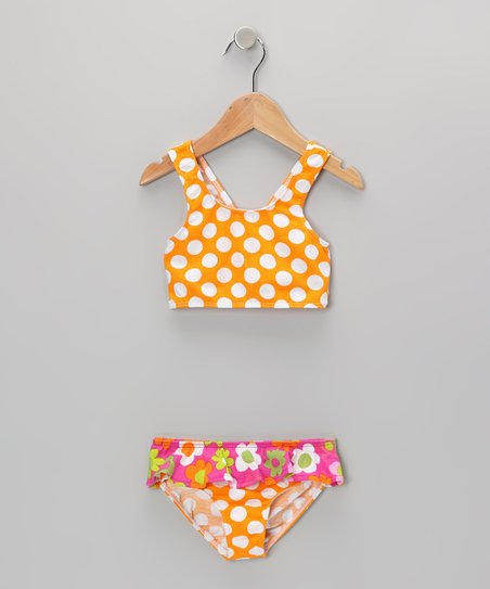 Mango Punch Skirted Bikini Sunsuit - Infant, Toddler & Girl