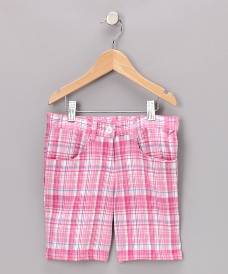 Pink Plaid Kristina Shorts - Toddler &amp; Girls