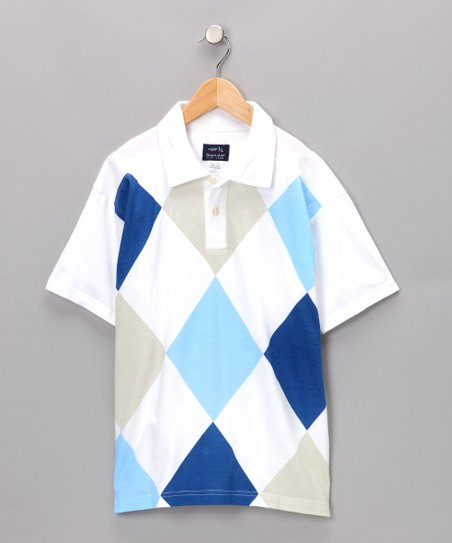 White Kramer Polo - Boys