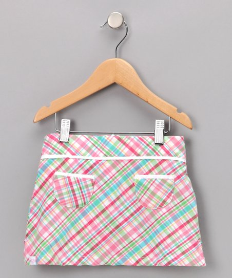 Pink Plaid Sydney Skort - Girls