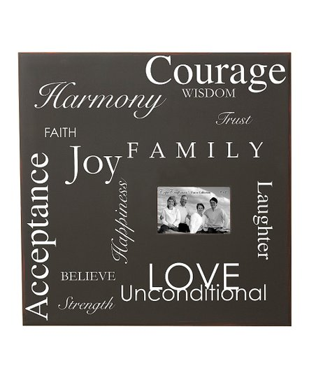 Word Collage Photo Frame