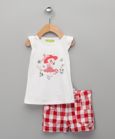 Rojo Candela Top & Shorts - Infant, Toddler & Girls