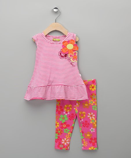 Fuchsia Candy Tunic & Leggings - Infant