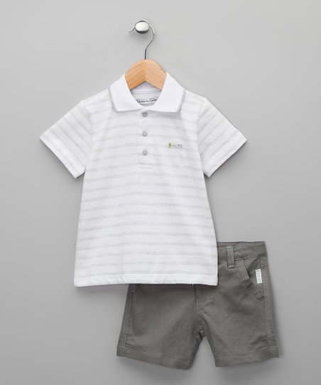 Gris Cucuta Polo &amp; Shorts - Infant &amp; Boys