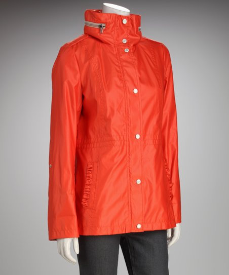 Jessica Simpson Papaya Hooded Funnel Collar Jacket