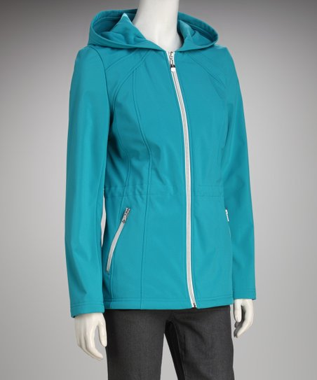 Jessica Simpson Aqua Hooded Jacket