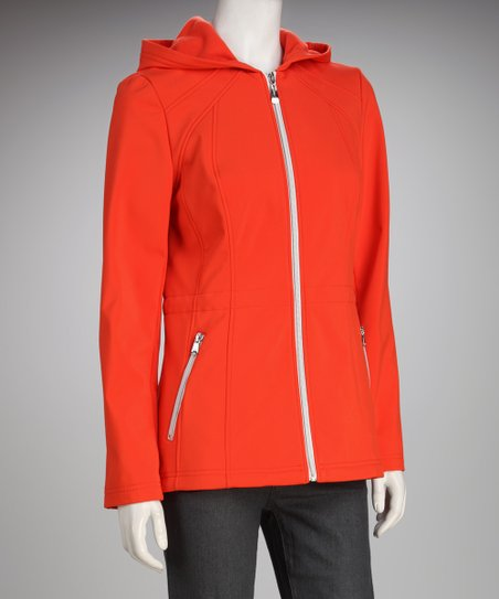 Jessica Simpson Tangerine Hooded Jacket