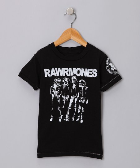 Black &#039;Rawrmones&#039; Tee - Infant, Toddler &amp; Boys