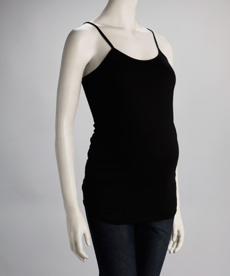Black Ruched Maternity Camisole - Women
