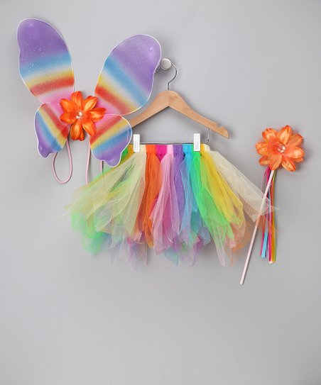 Rainbow Butterfly Tutu Set