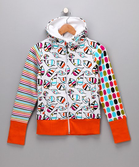 Orange Cameron Zip-Up Hoodie