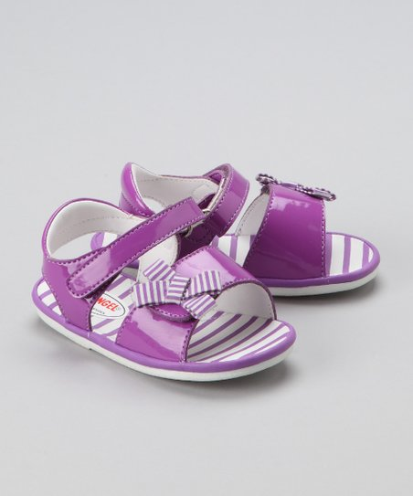 Purple Patent Sandal