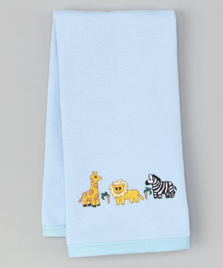 Blue Wild Animals Burp Cloth
