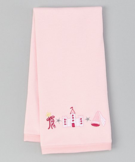 Pink Princess Castle Burp Cloth