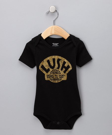 Black 'Lush' Bodysuit - Infant