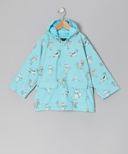 Angel Blue Kitten Raincoat - Infant, Toddler & Kids