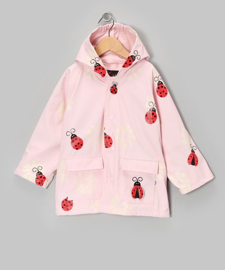 Light Pink Ladybug Raincoat - Infant, Toddler & Kids