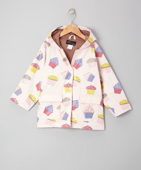 Pink Cupcake Raincoat - Infant, Toddler & Girls
