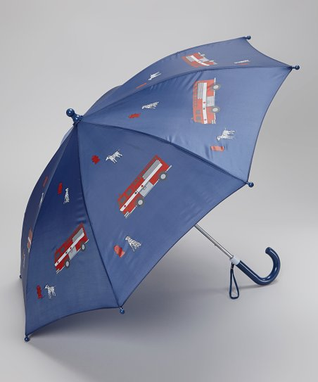 Blue Fire Truck Umbrella