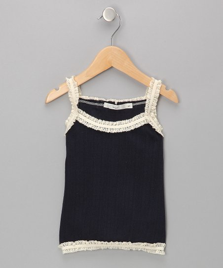Navy Lace Camisole - Toddler & Girls