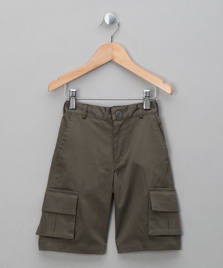 Green Finley Cargo Shorts - Toddler & Boys