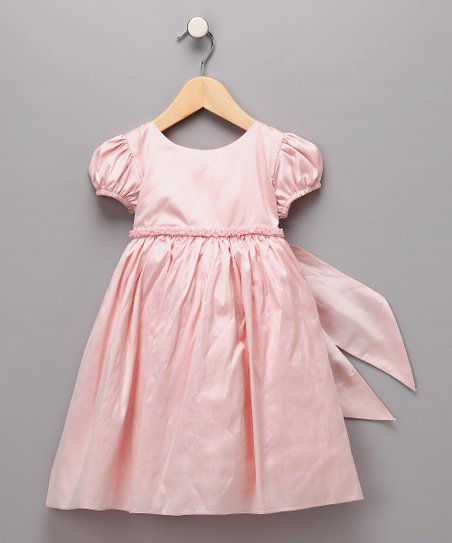 Pink Beaded Silk Dress - Infant & Toddler