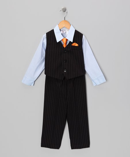 Navy & Blue Vest Set - Toddler & Boys