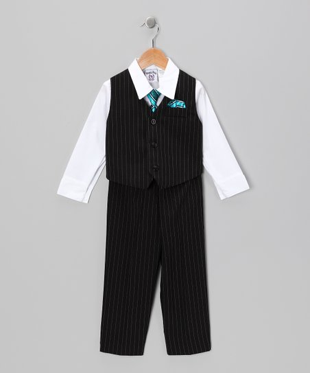 Black & White Vest Set - Toddler & Boys