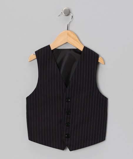 Black Reversible Vest - Toddler & Boys