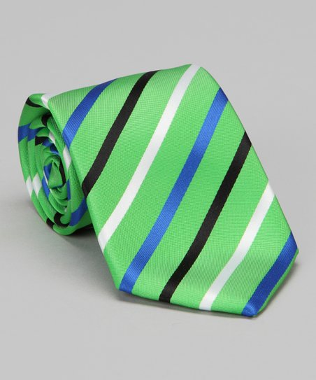 Green &amp; Blue Stripe Tie