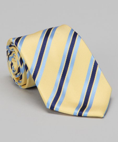 Yellow &amp; Blue Stripe Tie