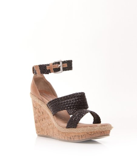 Brown Jaded Wedge Sandal