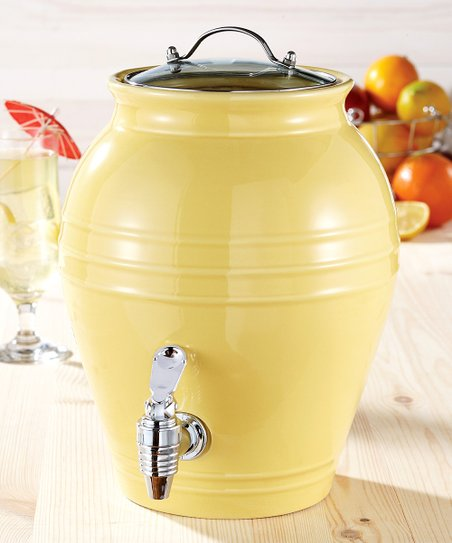 American Atelier Yellow Honey Pot Beverage Dispenser
